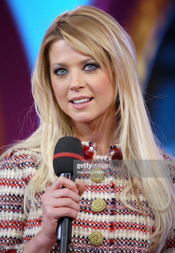 Tara Reid during Tara Reid Visits MTV's 'TRL' - January 24, 2005 at MTV Studios in New York City, New York, United States.