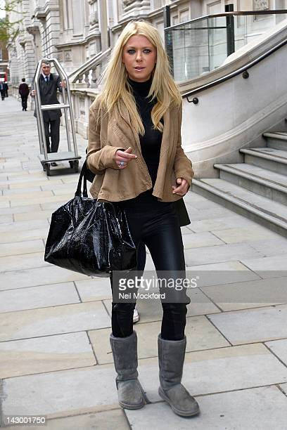 Tara Reid seen arriving at her hotel on April 17 2012 in London England