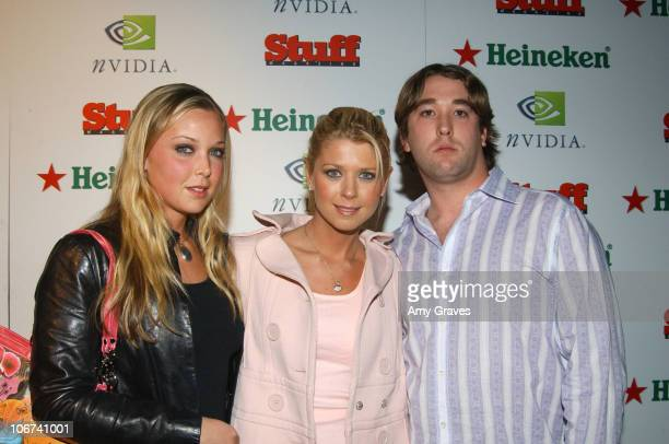 "Tara Reid with sister and brother during Stuff Magazine Presents ""The Granny Party"" at Avalon in Hollywood, California, United States."