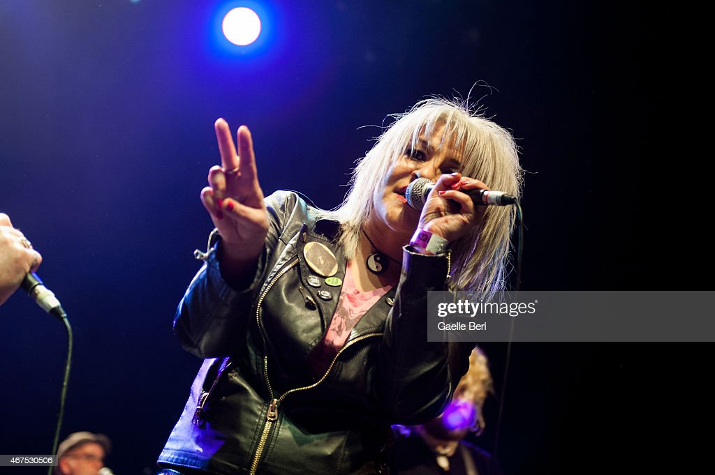 Tara Rez of Punk band The Duel performs at KOKO on March 25, 2015 in London, England.