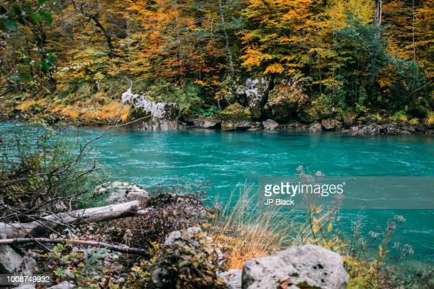 Tara river seen in the deepest canyon in Europe near Zablijak town in Montenegro