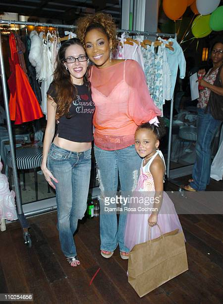 Tara Rowntree TBoz and Chase during TBoz Life Style Weekly Make A Wish Foundation Present Chase's Closet Launch at The Park in New York City New York...