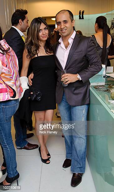 Tara Ruby and Tej Lalvani attend the Emilio Pucci cocktail party on June 18 2010 in London England