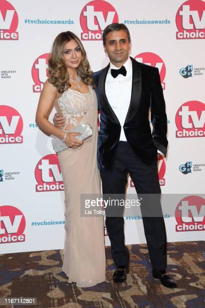 Tara Ruby and Tej Lalvani attend The TV Choice Awards 2019 at Hilton Park Lane on September 9 2019 in London England