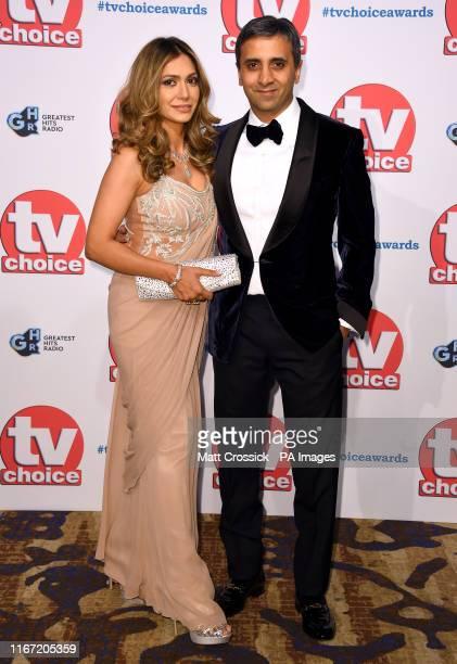Tara Ruby and Tej Lalvani attending the TV Choice Awards held at the Hilton Hotel Park Lane London