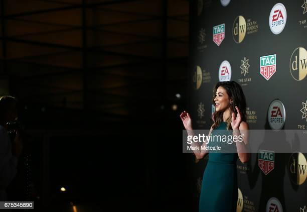 Tara Rushton arrives ahead of the FFA Dolan Warren Awards at The Star on May 1 2017 in Sydney Australia