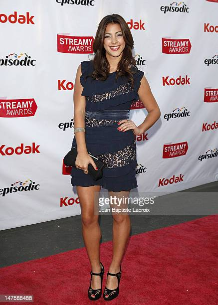 Tara Rushton arrives at the 1st Annual Streamy Awards at the Wadsworth Theatre on March 28 2009 in Los Angeles California