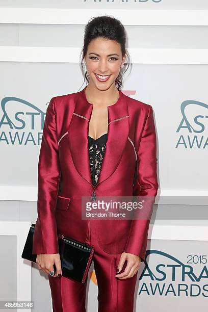 Tara Rushton arrives at the 2015 ASTRA Awards at the Star on March 12 2015 in Sydney Australia