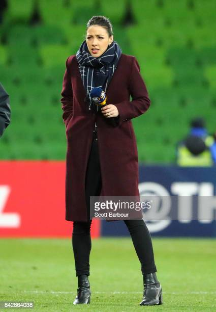 Tara Rushton looks on during the 2018 FIFA World Cup Qualifier match between the Australian Socceroos and Thailand at AAMI Park on September 5 2017...