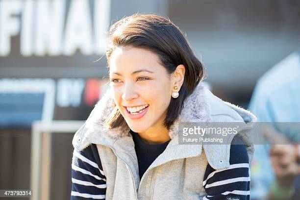 Tara Rushton seen during Fans Day before Melbourne Victory takes on Sydney FC in the season decider ALeague Grand Final on May 16 2015 in Melbourne...