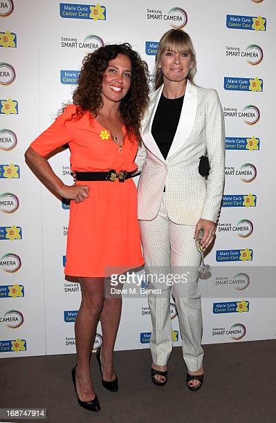Tara Smith and Deborah Leng attend the launch of Samsung's NX Smart Camera at a charity auction with David Bailey in aid of Marie Curie Cancer Care...