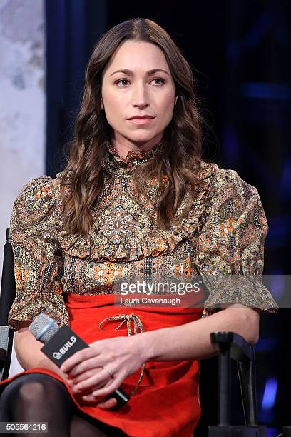 Tara Stiles attends AOL Build Speaker Series Tara Stiles Dr Karen Latimer Jen Ator And Terri Zandhuis at AOL Studios In New York on January 18 2016...