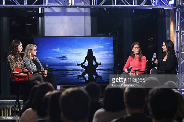 Tara Stiles Terri Zandhuis Dr Karen Latimer and Jen Ator attend AOL Build Speaker Series Tara Stiles Dr Karen Latimer Jen Ator And Terri Zandhuis at...