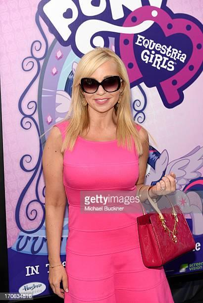 Tara Strong arrives at the 'My Little Pony Equestria Girls' premiere during the 2013 Los Angeles Film Festival at Regal Cinemas LA Live on June 15...