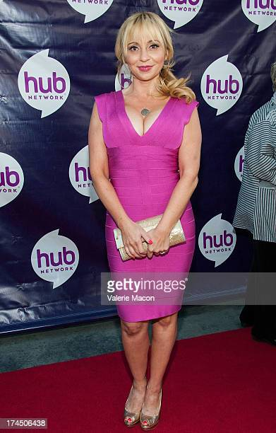 Tara Strong attends The Hub Network's 2013 Summer TCA Red Carpet Party at The Globe Theatre at Universal Studios on July 26 2013 in Universal City...