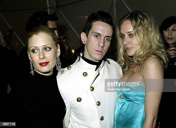 Tara Subkoff fashion designer Jeremy Scott and actress Chloe Sevigny attend The W's Golden Globe Party on January 23 2004 in Los Angeles California