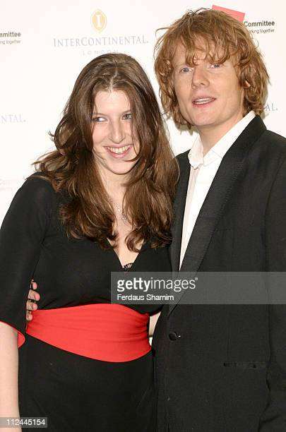 Tara Summers and Julian RhindTutt during Tsunami Earthquake Appeal Dinner at InterContinental Hotel in London Great Britain