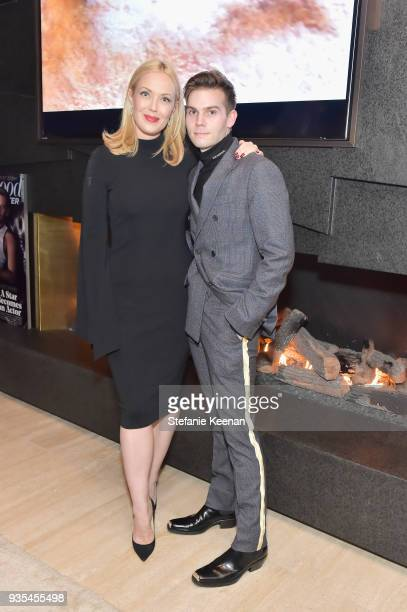 Tara Swennen and Chris Horan attend The Hollywood Reporter and Jimmy Choo Power Stylists Dinner on March 20 2018 in Los Angeles California