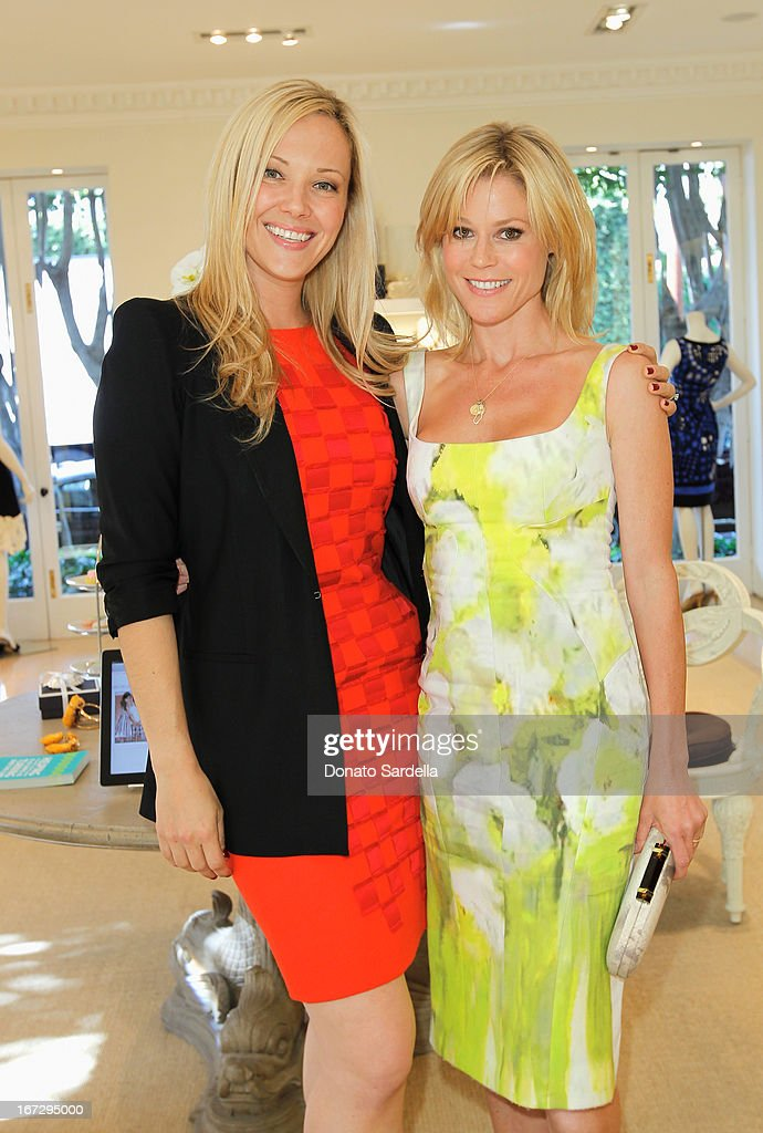 Tara Swennen, Host Committee, and actress Julie Bowen attend Oscar de le Renta and author Kelly Florio Kasouf invite children to shop the Spring 2013 Collections and Limited Edition 'Sophie Party Dress' at Oscar de La Renta Boutique on April 23, 2013 in West Hollywood, California.