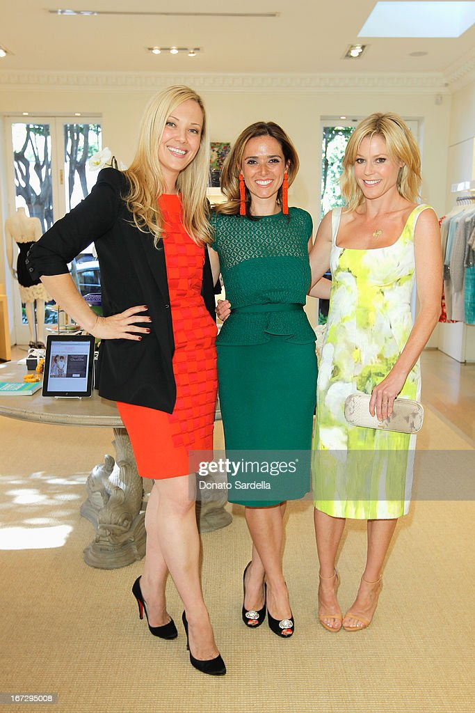 Tara Swennen, Host Committee, author Kelly Florio Kasouf and actress Julie Bowen attend Oscar de le Renta and author Kelly Florio Kasouf invite children to shop the Spring 2013 Collections and Limited Edition 'Sophie Party Dress' at Oscar de La Renta Boutique on April 23, 2013 in West Hollywood, California.