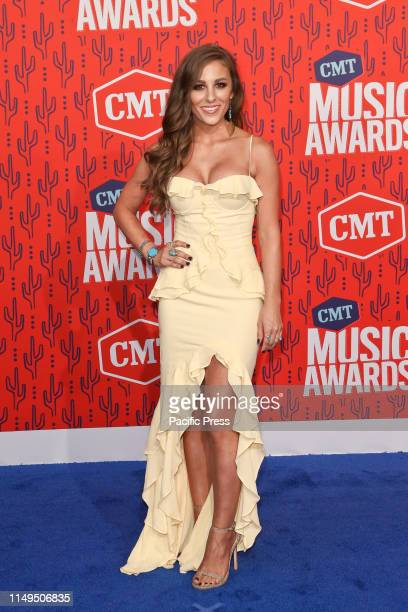 Tara Thompson attends the 2019 CMT Music Awards at the Bridgestone Arena in Nashville Tennessee