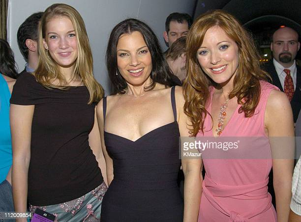 Tara Thompson Fran Dreshcer and Elizabeth Bogush during The 20042005 WB Primetime Upfront After Party at Lighthouse at Chelsea Piers in New York City...