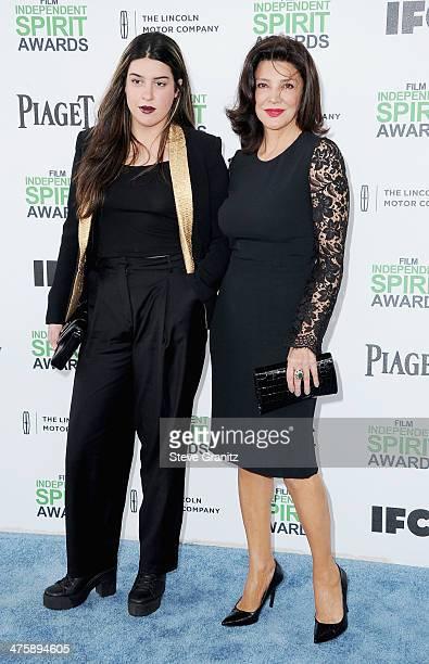 Tara Touzie and actress Shohreh Aghdashloo attend the 2014 Film Independent Spirit Awards at Santa Monica Beach on March 1 2014 in Santa Monica...