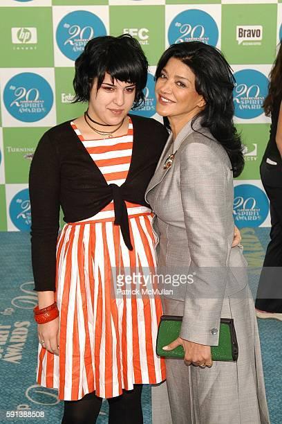 Tara Touzie and Shohreh Aghdashloo attend 20th IFC Independent Spirit Awards Arrivals at Santa Monica Beach on February 26 2005 in Santa Monica...
