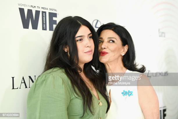 Tara Touzie and Shohreh Aghdashloo attend the Women In Film 2018 Crystal Lucy Awards presented by Max Mara Lancôme and Lexus at The Beverly Hilton...