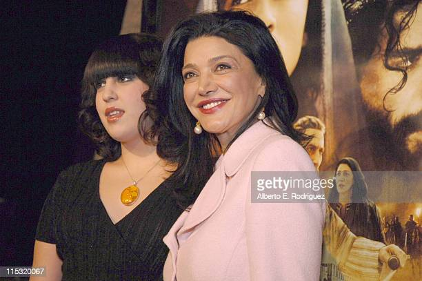 Tara Touzie and Shohreh Aghdashloo during The Nativity Story Los Angeles Premiere at AMPAS in Los Angeles California United States