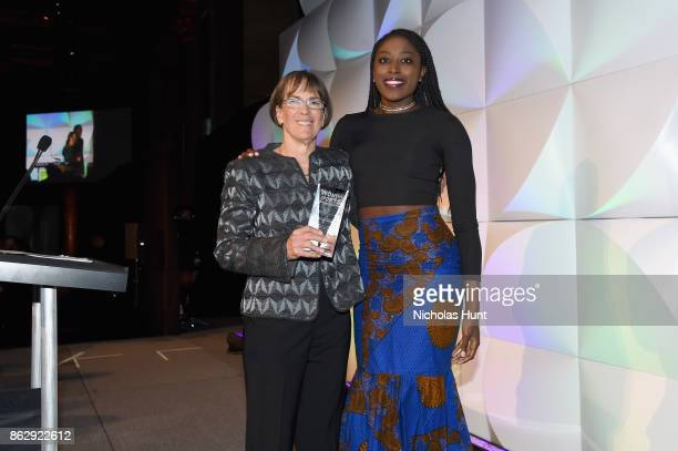 Tara VanDerveer and Chiney Ogwumike attend The Women's Sports Foundation's 38th Annual Salute To Women in Sports Awards Gala on October 18, 2017 in...