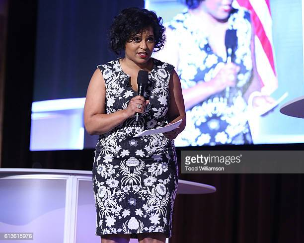 Tara Wall attends the Inform Your Vote President Election Debate at The Tabernacle on October 8 2016 in Inglewood California