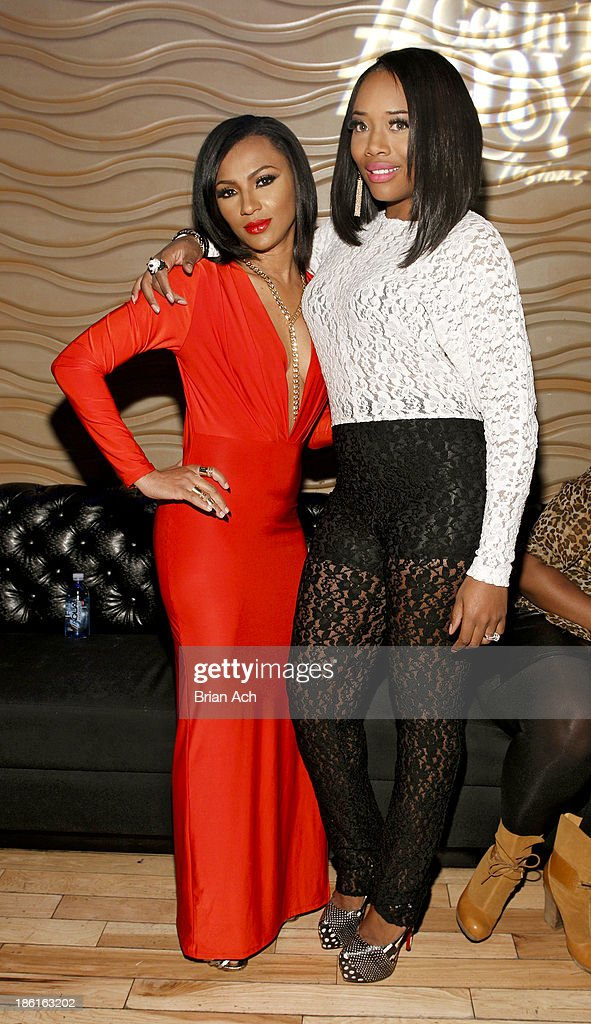 Tara Wallace and Yandy Smith appear at the VH1 'Love & Hip Hop' Season 4 Premiere at Stage 48 on October 28, 2013 in New York City.