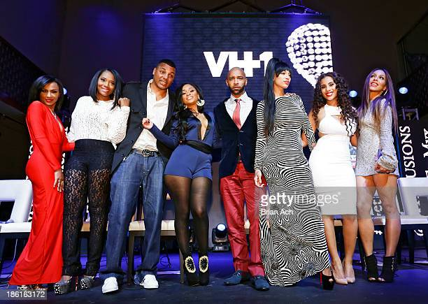 Tara Wallace Yandy Smith Rich Dollaz Tahiry Joe Budden Erica Mena Cyn Santana and Amina Buddafly appear at the VH1 'Love Hip Hop' Season 4 Premiere...
