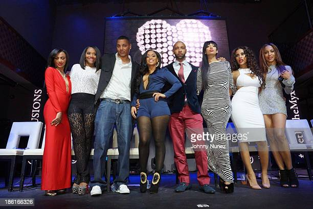 Tara Wallace Yandy Smith Rich Dollaz Tahiry Jose Joe Budden Erica Mena Cyn Santana and Amina Buddafly attend the Love And Hip Hop Season 4 Launch at...