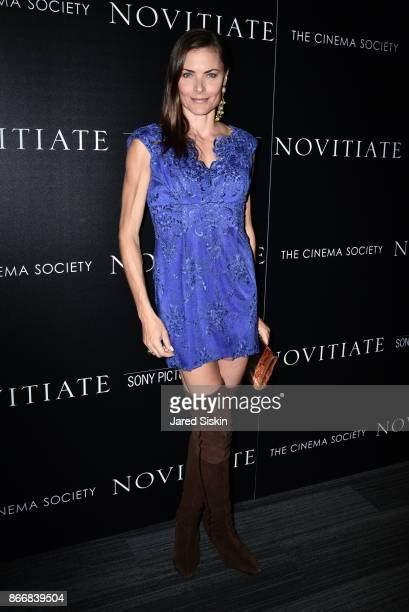 """Tara Westwood attends Miu Miu & The Cinema Society host a screening of Sony Pictures Classics' """"Novitiate"""" at The Landmark at 57 West on October 26,..."""