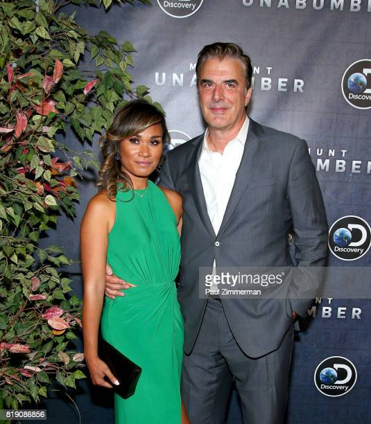 Tara Wilson and Chris Noth attend Discovery's Manhunt Unabomber World Premiere at the Appel Room at Jazz at Lincoln Center's Frederick P Rose Hall on...