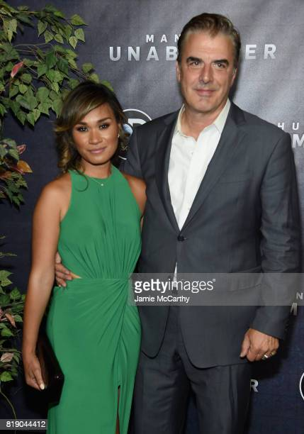 Tara Wilson and Chris Noth attend the Discovery's Manhunt Unabomber World Premiere at the Appel Room at Jazz at Lincoln Center Frederick P Rose Hall...