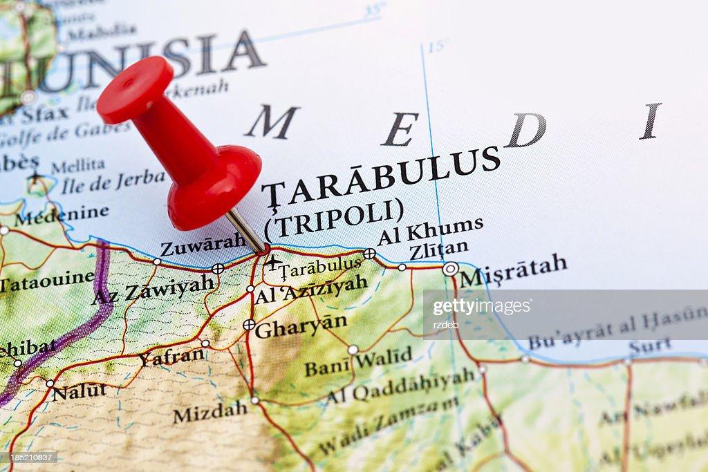 Tarabulus tripoli map libya stock photo getty images tarabulus tripoli map libya stock photo publicscrutiny Images