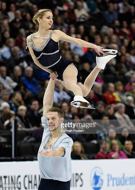 Tarah Kayne and Danny O'Shea compete in the Pairs' Free Skate at the 2016 Prudential U.S. Figure Skating Championship on January 23, 2016 at Xcel...