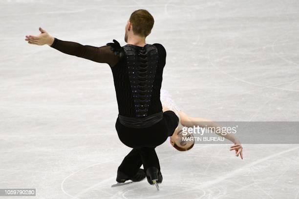 TOPSHOT Tarah Kayne and Danny O'Shea of the US perform during the pairs free skating of the figure skating NHK Trophy in Hiroshima on November 10 2018