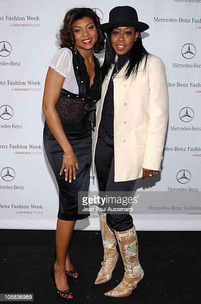 Taraji Henson and Tichina Arnold during MercedesBenz Fall 2006 LA Fashion Week at Smashbox Studios Day 1 Arrivals at Smashbox Studios in Culver City...