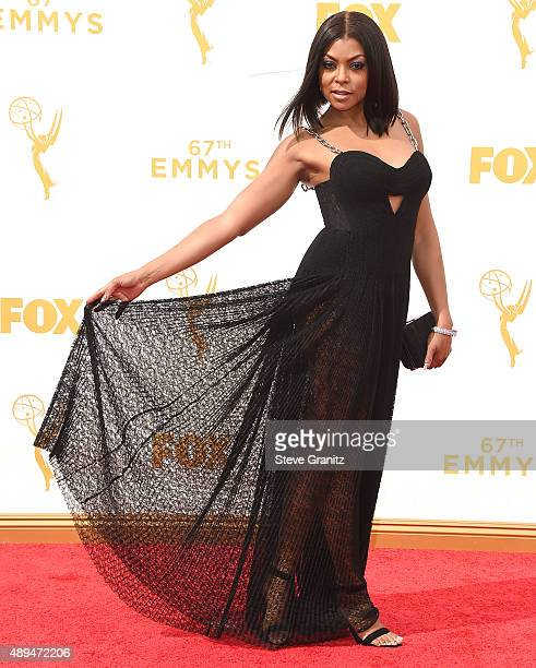 Taraji Henson arrives at the 67th Annual Primetime Emmy Awards at Microsoft Theater on September 20 2015 in Los Angeles California