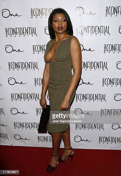 Taraji Henson attends Los Angeles Confidential Magazine and Niche Media's celebration of the newest issue of Los Angeles Confidential magazine at One...