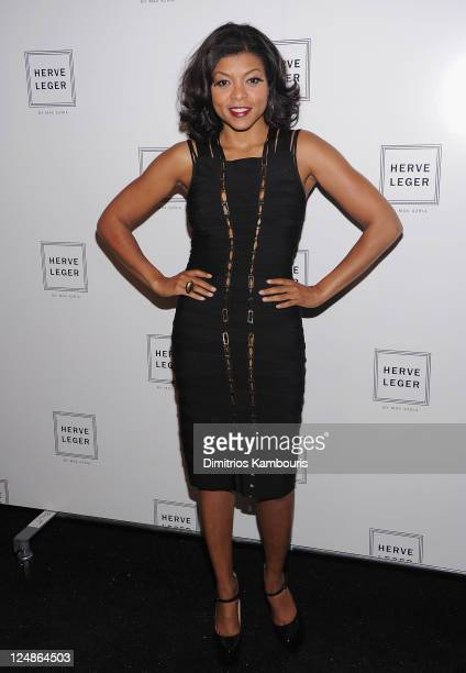 Taraji Henson attends the Herve Leger by Max Azria Spring 2012 fashion show during Mercedes-Benz Fashion Week at The Theater at Lincoln Center on...