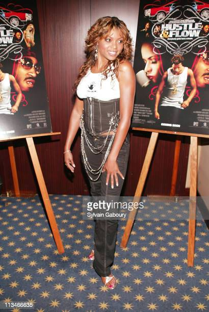 Taraji Henson during Paramount Classics and MTV Film private screening of 'Hustle Flow' at The MGM Screening Room in New York New York United States