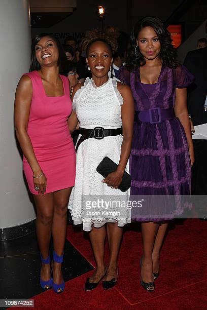 Taraji P Henson Alfre Woodard and Sanaa Lathan attend Tyler Perry's The Family That Preys Premiere at Lowe's Lincoln Square on September 8 2008 in...