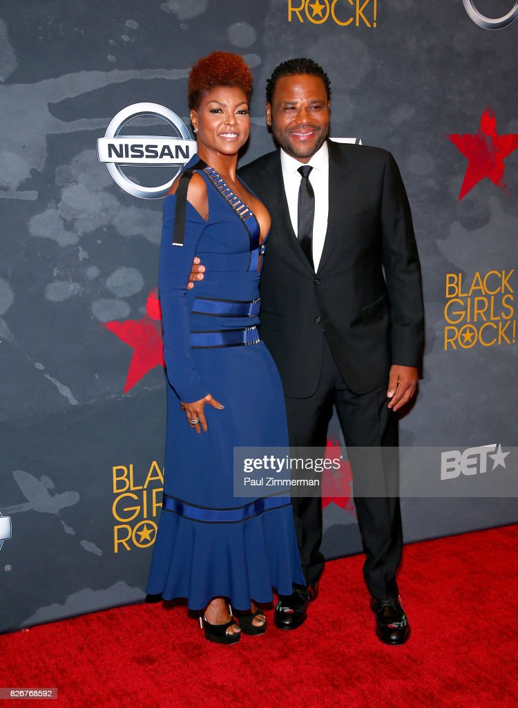 Taraji P. Henson and Anthony Anderson attend the 2017 Black Girls Rock! on August 5, 2017 in Newark, New Jersey.
