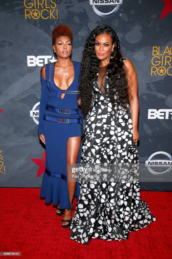 Taraji P. Henson and CEO, Founder BLACK GIRLS ROCK! Beverly Bond attend the 2017 Black Girls Rock! at New Jersey Performing Arts Center on August 5, 2017 in Newark, New Jersey.