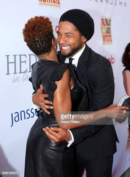 Taraji P Henson and Jussie Smollett arrive at the 16th Annual Heroes In The Struggle gala reception and awards presentation at 20th Century Fox on...